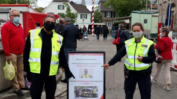 Wochenmarkt Maskenpflicht
